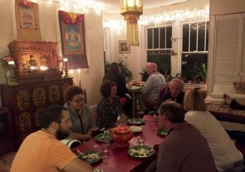 A recent supper club in Josh Haynes' apartment in Birmingham, Ala.
