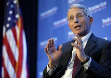 Dr. Anthony Fauci, director of the National Institute of Allergy and Infectious Diseases, says it's not clear whether Zika virus can spread through saliva.