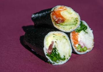 Sushi burritos from Washington, D.C., restaurant Buredo. These are delicious, but there's no way they'll earn certification as authentic Japanese cuisine under a new program from the government of Japan.