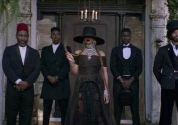 """Beyoncé, in a scene from the video for """"Formation."""""""