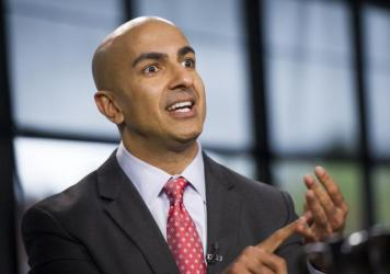 Neel Kashkari, head of the Federal Reserve Bank of Minneapolis, says some U.S. banks are still too big.