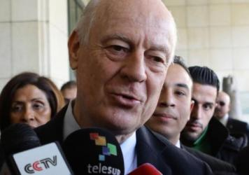 """The U.N.'s envoy for Syria, Staffan de Mistura, says he can't """"realistically"""" hold peace talks on Syria next week."""