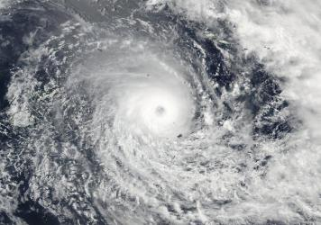 A satellite image released by NASA Goddard Rapid Response on Friday shows Cyclone Winston in the South Pacific Ocean.
