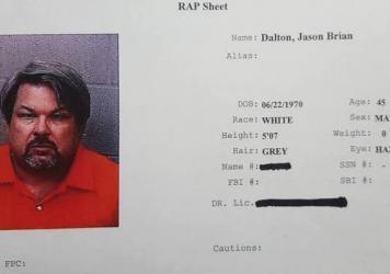 A mugshot and rap sheet of Jason Dalton, who police say went on a shooting rampage that lasted for hours in Kalamazoo, Mich., on Saturday.