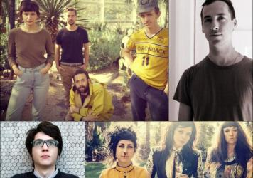 Clockwise from upper left: Big Thief, Tim Hecker, The Coathangers, Car Seat Headrest