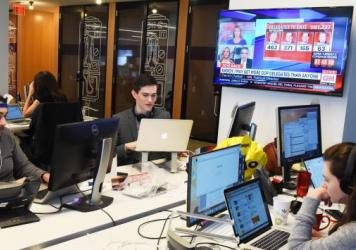 BuzzFeed's K-File (from left: Andrew Kaczynski, Nathan McDermott, Megan Apper and Chris Massie) has been covering the 2016 election by revealing the candidates' contradictions, hypocrises and misstatements.