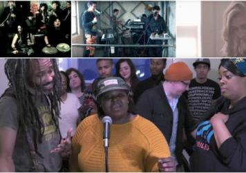 Some of our favorite entries to the Tiny Desk Contest. Clockwise from top left: La Misa Negra, Rossonian, Andrea Von Kampen and So Chi Voices.