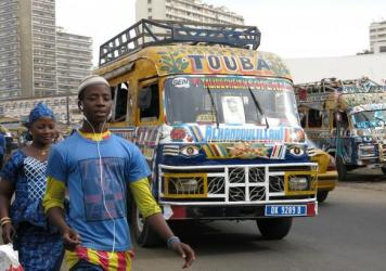 Pape Omar Pouye helped paint the car rapide that's displayed in the Musee de l'Homme in Paris.