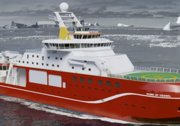 """Imagine """"Boaty McBoatface"""" emblazoned on the side of this ship."""