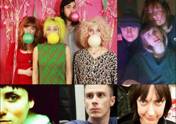 Clockwise from upper left: Tacocat, And The Kids, Bethlehem Steel, John Congleton, Edith Crash