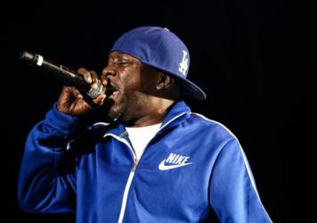 Rapper Phife Dawg of A Tribe Called Quest performs at H2O Music Festival at Los Angeles Historical Park on August 17, 2013.