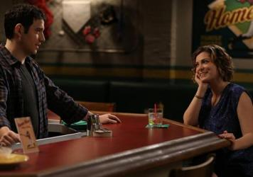 Santino Fontana and Rachel Bloom in <em>Crazy Ex-Girlfriend</em>.
