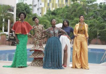 The characters of <em>An African City </em>(from left): Zainab, Ngozi, Nana Yaa, Sade and Makena.