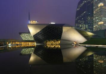 Guangzhou Opera House in Guangzhou, China, was designed by Zaha Hadid, a Pritzker-winning architect. Hadid died at 65.<br /><br />