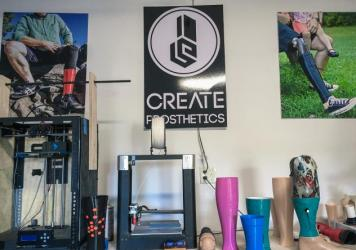 Jeff Erenstone, Create's founder and owner of Mountain Orthotic and Prosthetic Services in Lake Placid, N.Y., and Plattsburgh, has built a growing international business by making artificial legs look <em>less </em>realistic, not more.