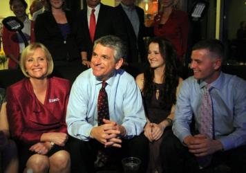 Retiring Rep. Scott Rigell, R-Va., seen here awaiting election results on Tuesday, Nov. 2, 2010.