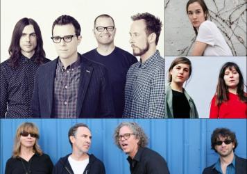 Clockwise from upper left: Weezer, Margaret Glaspy, Oh Pep!, The Jayhawks