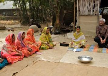 Sir Fazle Hasen Abed quit his job at Shell Oil more than 40 years ago to focus on helping the ultra-poor, like these women in a village in Bangladesh.