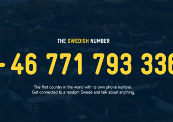 The Swedish Number project was launched to connect people from different countries and foster a curiosity about Sweden.