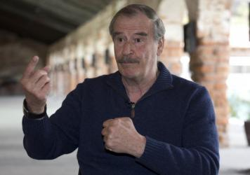 "Former Mexican President Vicente Fox, shown here on March 9 in San Cristobal, Mexico, has called Donald Trump ""a false prophet."""