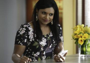 Mindy Kaling as Dr. Mindy Lahiri in <em>The Mindy Project</em>.