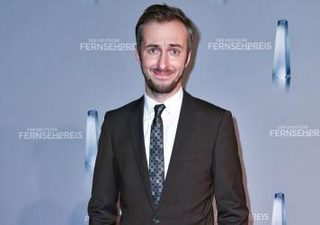 Comedian Jan Boehmermann, who performed a satirical poem about Turkish President Recep Tayyip Erdogan, appeared at the German Television Awards in January in Duesseldorf, Germany.