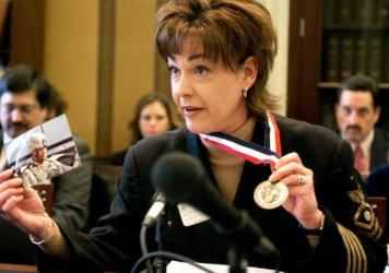 Stacy Bannerman testifies before the House Appropriations Subcommittee on Military Quality of Life and Veterans Affairs in 2006.
