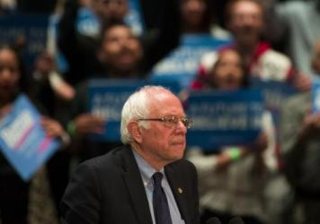 Sen. Bernie Sanders campaigns in Pennsylvania before the state's April 26 primary.