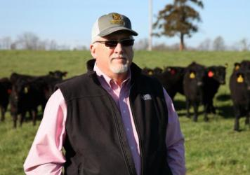 Beef producer Mike John's calves were born last fall and weaned during the winter in Missouri. He's hoping Asian consumers will be able to eat more of his beef if the Trans-Pacific Partnership trade deal is ratified.