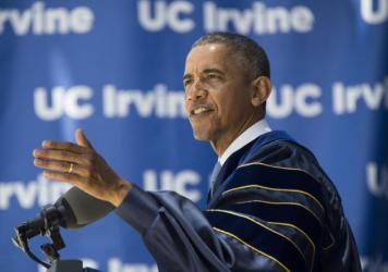 President Obama has delivered nearly two dozen commencement speeches during his time in office — including this one, at the University of California, Irvine, in 2014.