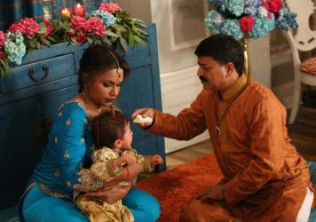 On a new episode of 'The Mindy Project,' Dr. Mindy Lahiri decided to embrace her Indian roots, taking her son for a Hindu head-shaving ceremony.