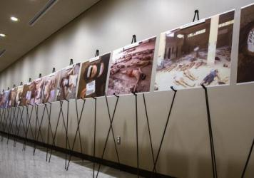 Images of dead bodies in Syrian prisons, taken by a Syrian forensic photographer, were displayed at the United Nations last year. They were also put on exhibit at the U.S. Capitol last July. A range of activists and groups are trying to find better ways