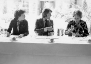 "From left: Patricia Gallagher, who first proposed the tasting, wine merchant Steven Spurrier, and influential French wine editor Odette Kahn<em>. </em>After the results were announced, Kahn is said to have demanded her scorecard back. ""She wanted to make sure that the world didn't know what her scores were,"" says George Taber, the only journalist present that day."