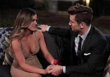 JoJo Fletcher and Jordan the football player/brother in the kickoff episode of the new season of <em>The Bachelorette</em>.