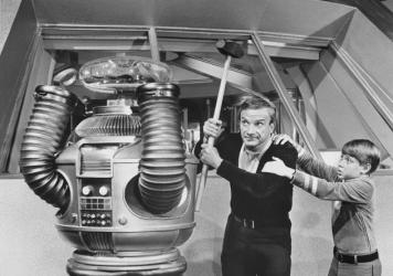 """Danger, Will Robinson!"" The danger-sensing abilities of the newly developed robot system far exceed those of the Robot in the classic TV series <em>Lost in Space.</em>"