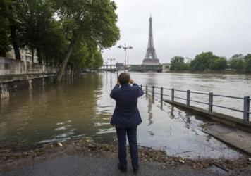 Torrential downpours have lashed parts of Europe in recent days. In Paris, the Seine River breached its banks in places.