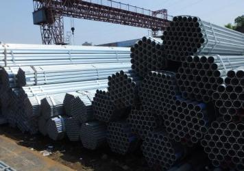Steel stacked up at a steel products market on Monday in Yichang, Hubei Province, China.