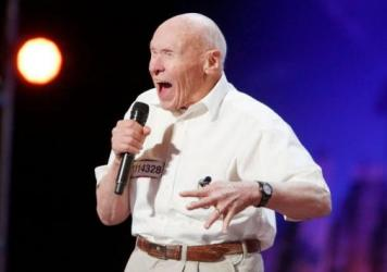 """John Hetlinger, 82, unleashed his version of the heavy metal song """"Bodies"""" on a karaoke audience two years ago. Tuesday, he rocked <em>America's Got Talent</em>."""