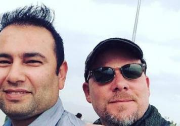 NPR photo journalist David Gilkey and NPR Afghan interpreter Zabihullah Tamanna.