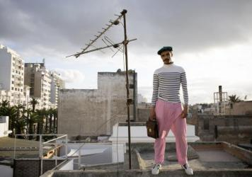 Amine Bendriouich, a fashion designer in Casablanca, Morocco.