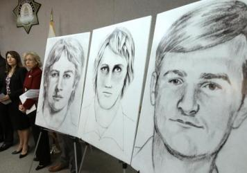 Three different law enforcement drawings show a suspected serial killer believed to have committed at least 12 murders and 45 rapes across California in the '70s and '80s. Sacramento County Sheriff Scott Jones, FBI Special Agent in Charge Monica Miller and Sacramento District Attorney Anne Marie Schubert displayed the images at a news conference in Sacramento, Calif., on Wednesday.