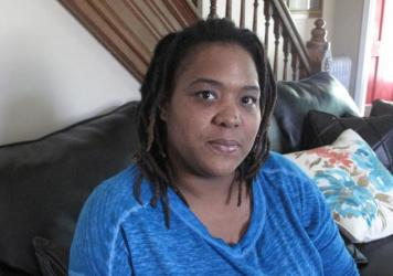 Lakisha Briggs, at her house in Norristown, Pa. Briggs, who was being abused by her boyfriend, lodged a legal challenge against her eviction for having the police called too many times to her house.