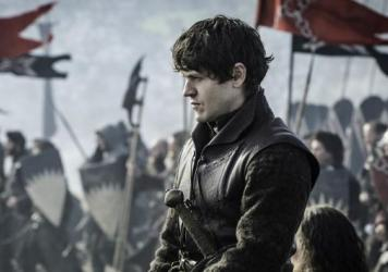 Iwan Rheon plays Ramsay Bolton, here looking a bit less gleefully sadistic than baseline.