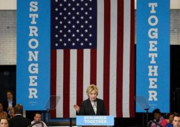 Hillary Clinton criticized Donald Trump's economic platform at an event in Columbus, Ohio, on Tuesday.