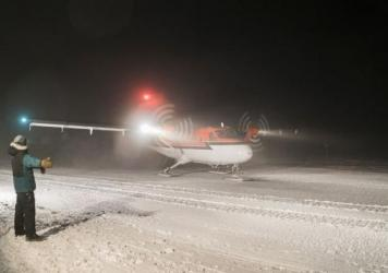 A Canadian-owned Twin Otter aircraft evacuated two people from the South Pole on Wednesday.