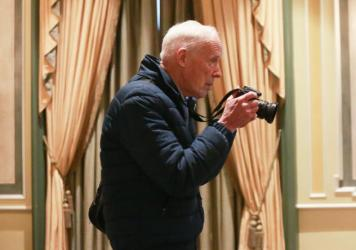 Bill Cunningham, at the 2016 NYSPCC Spring Luncheon on April 12. The iconic New York Times photographer died on Saturday at age 87.