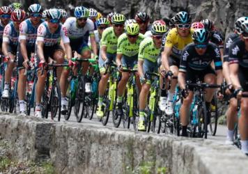 "Cyclists in this year's Tour de France will face new controls for what organizers call ""technological fraud."" Here, elite cyclists are seen riding in the Paris-Nice race in March."