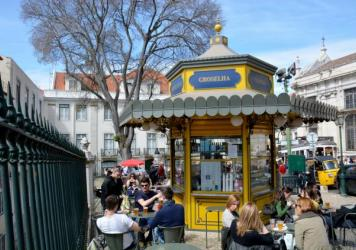 Quiosque da Praça das Flores. The kiosks offer affordable and traditional drinks and snacks, conversation and community – and also employment in a country struggling with the staggering levels of unemployment and recession gripping much of western Eur