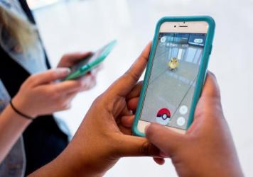 The mobile app Pokémon Go is currently the top downloaded free app in both Apple and Android stores. The augmented reality game allows smartphone users to track and catch Pokémon in real life.