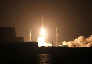 The SpaceX Falcon 9 and Dragon spacecraft lift off on the CRS-9 mission to bring a new docking adapter and other cargo to the International Space Station.